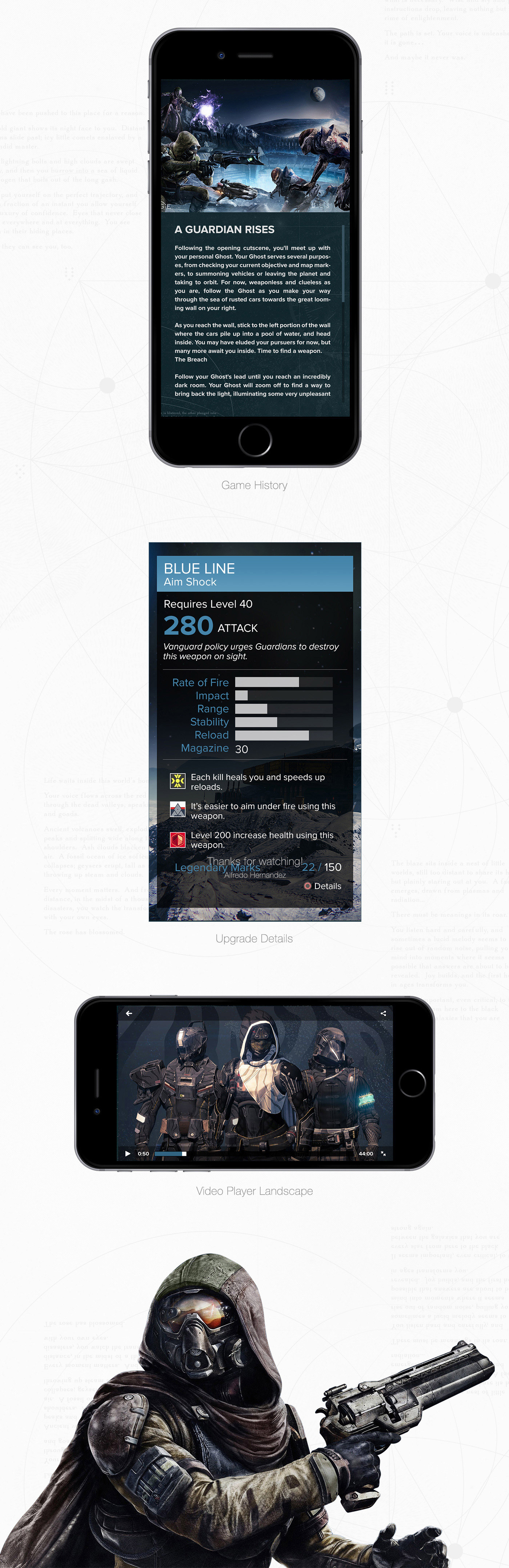 Destiny Companion App UI Design by AlfredoCreates.com