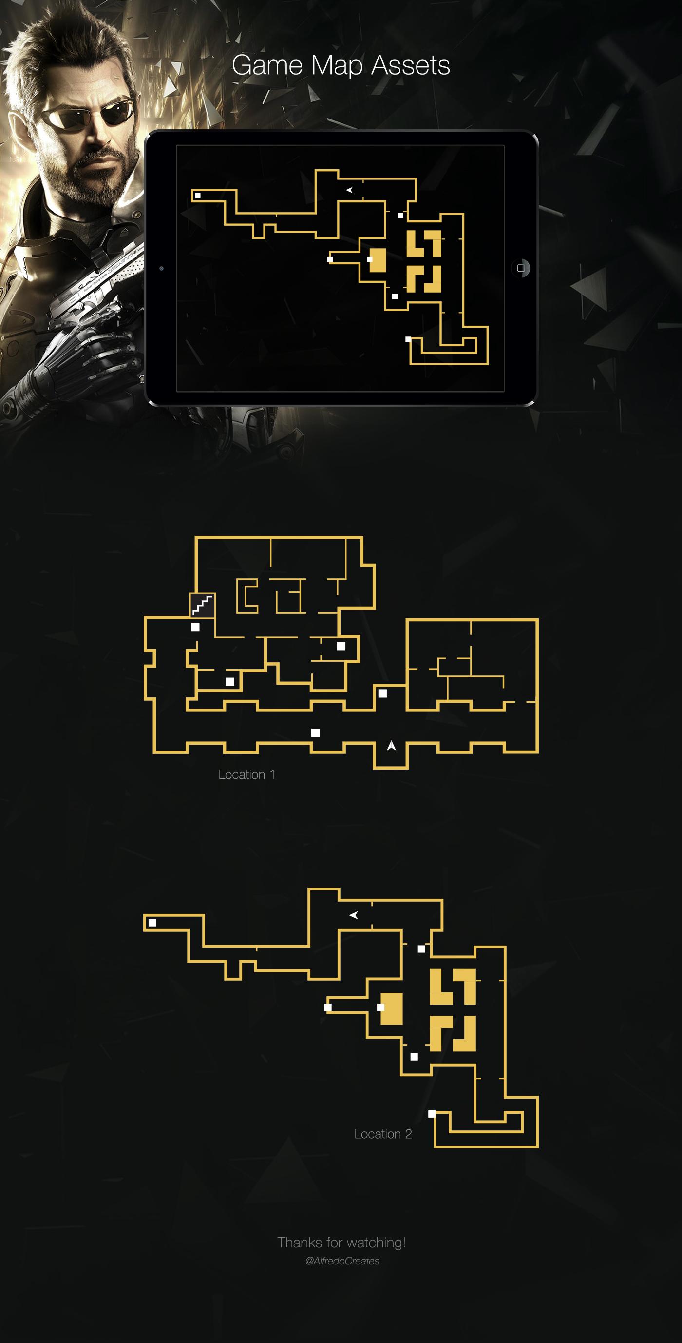 Deus Ex UI Design Map Location