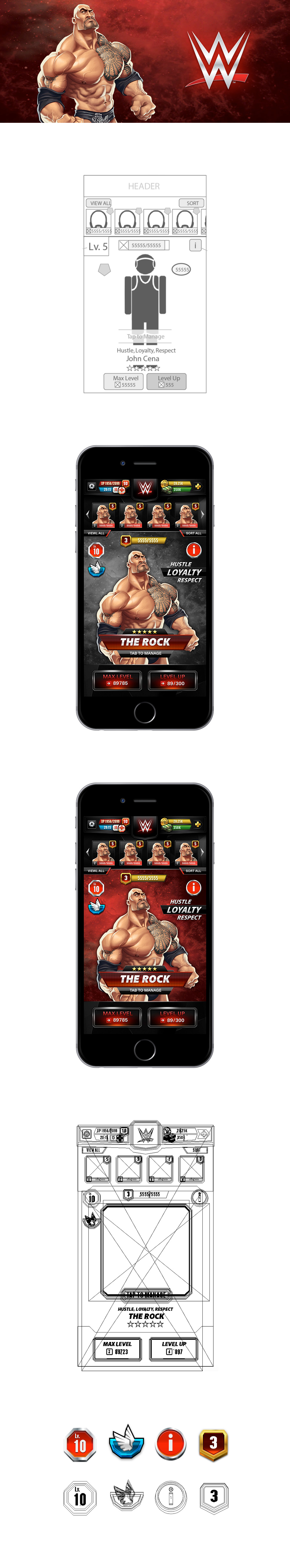 WWE Mobile Gaming Design