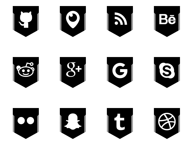 Free-Black-White-Social-Media-Shield-Icons-by-Alfredo-Hernandez